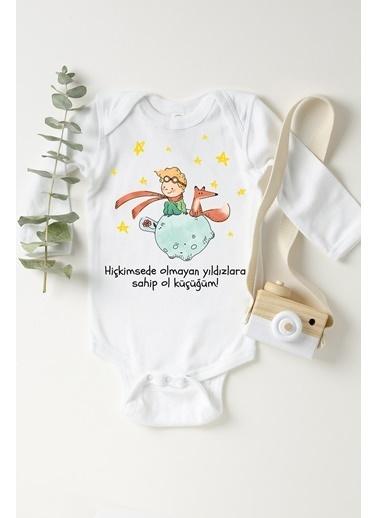 Happy Onesie Co Küçük Prens Çıtçıtlı Bebek Body Beyaz